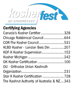 Kosher Certifying Agencies at Kosherfest 2013
