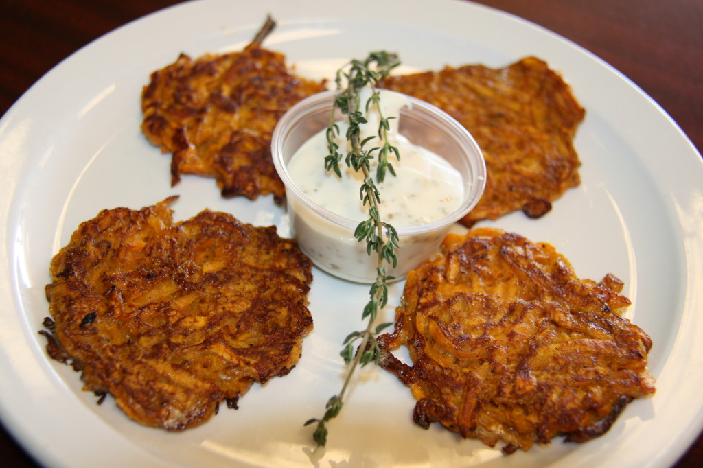 Sweet Potato Latke for Thanksgivukkah