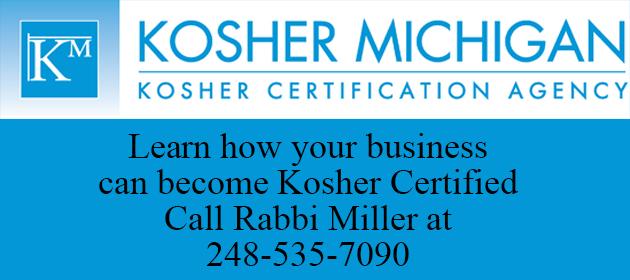 Kosher Michigan - Rabbi Jason Miller 248-535-7090