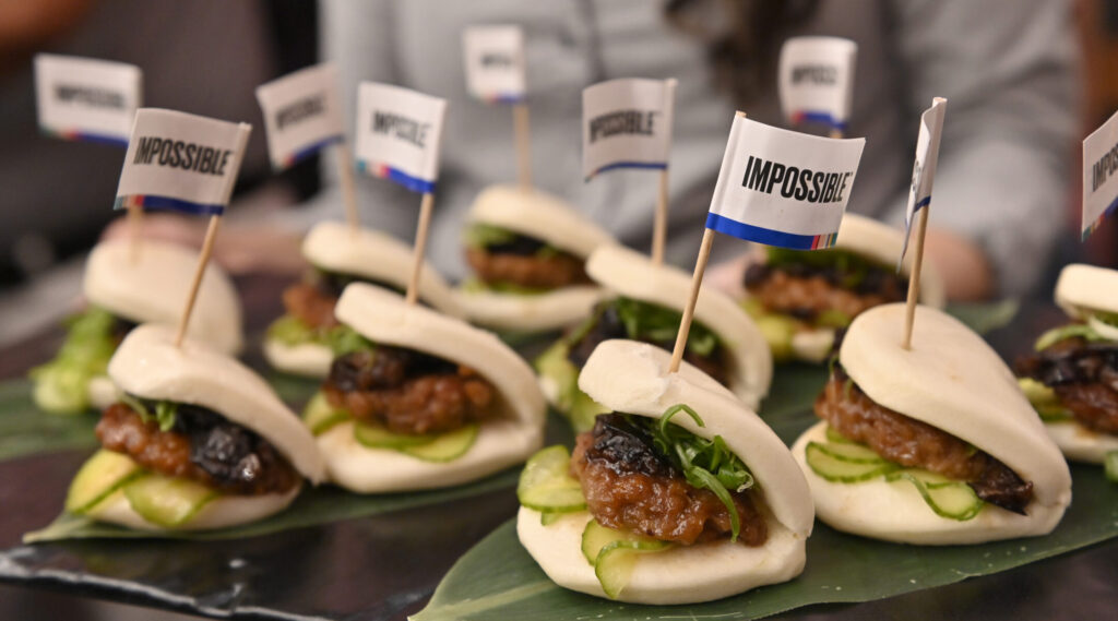 Impossible Pork Char Siu Buns were presented at a consumer technology conference in Las Vegas in January 2020.